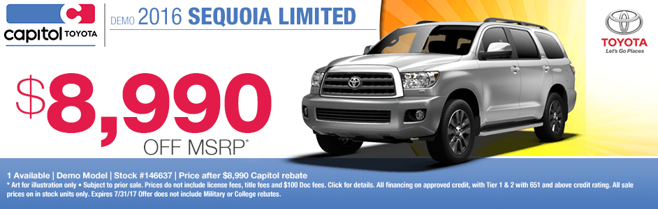 2017 Toyota Sequoia Limited Sales Special in Salem, OR