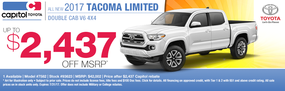 2017 Toyota Tacoma Limited Double Cab Sales Special in Salem, OR