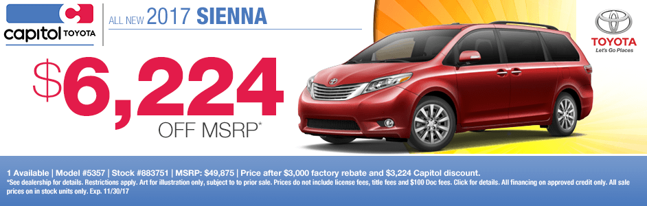2017 Toyota Sienna Purchase Special in Salem, OR