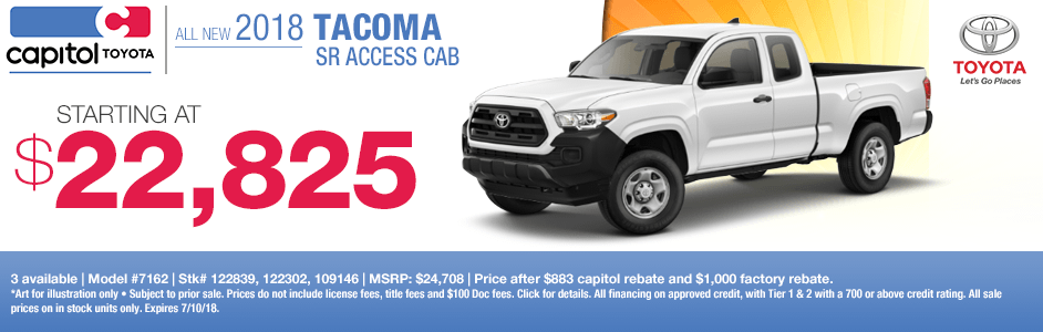 New 2018 Toyota Tacoma SR Access Cab Special in Salem, Oregon