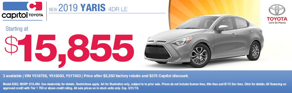 2019 Toyota Yaris 4-Door LE Purchase Special in Salem, OR