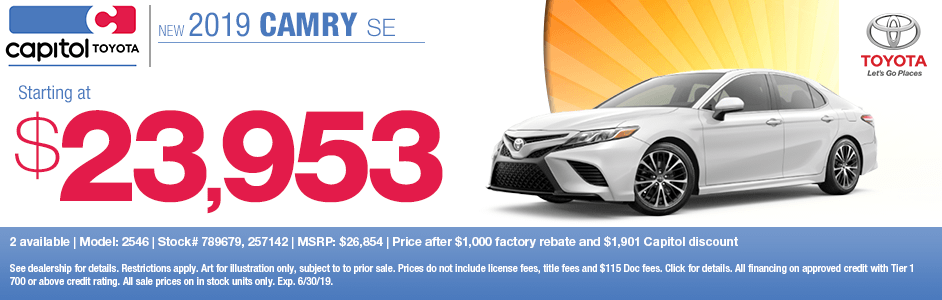 2019 Toyota Camry SE Sales Special in Salem, OR
