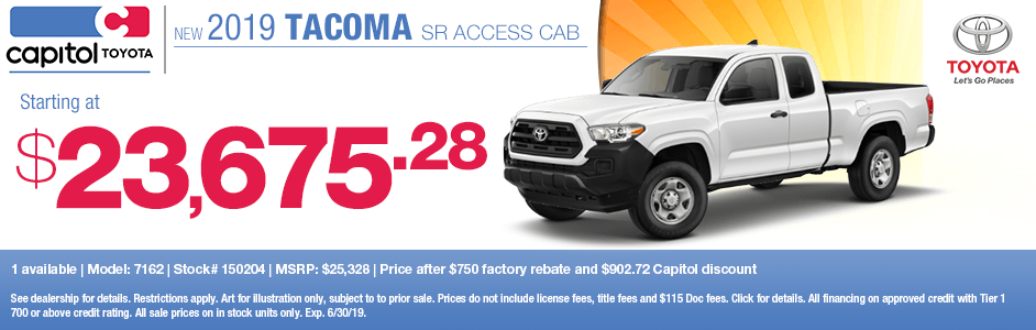 2019 Tacoma SR Access Cab Purchase Special in Salem, OR
