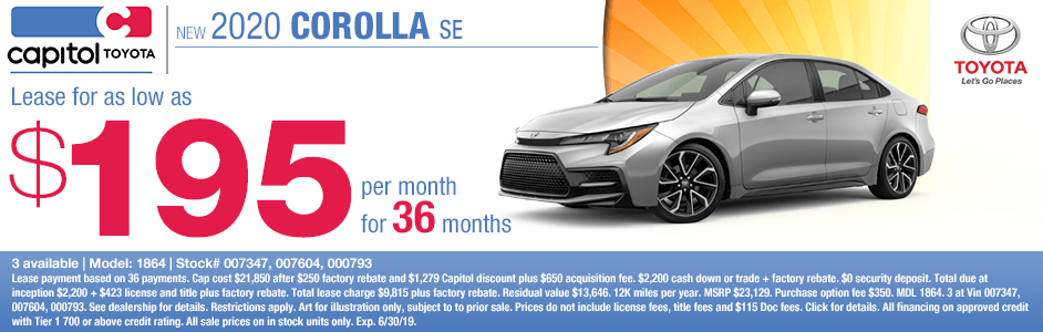 2020 Toyota Corolla S Lease Special in Salem, OR