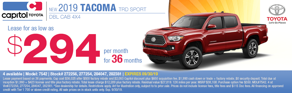 2019 Toyota Tacoma TRD DBL Cab Sport 4x4 Lease Special in Salem, OR
