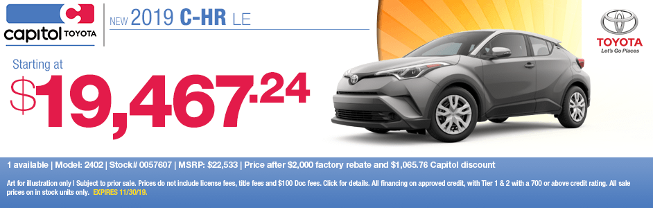 2019 Toyota C-HR LE Sales Special in Salem, OR