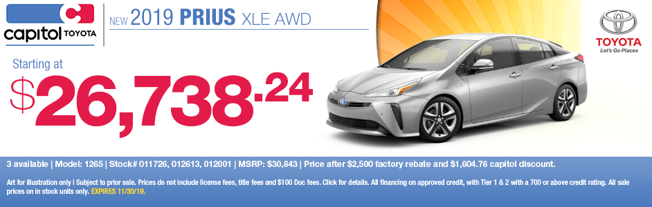 2019 Toyota Prius XLE AWD Purchase Special in Salem, OR