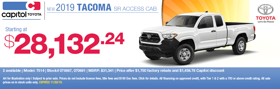2019 Toyota Tacoma SR Access Cab 4x4 Sales Special in Salem, OR