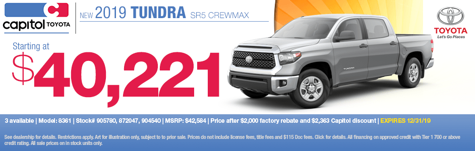 2019 Toyota Tundra SR5 Crewmax Sales Special in Salem, OR