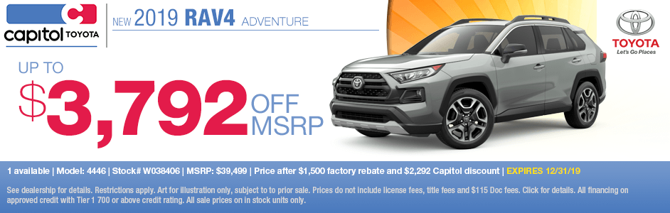 2019 Toyota RAV4 Adventure Purchase Special in Salem, OR