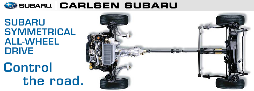 Subaru Subaru Symmetrical All Wheel Drive System Information provided by Carlsen Subaru serving San Francisco, California