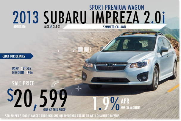 San Francisco New 2013 Subaru Impreza 5-Door Sport Premium Sales Special Offer serving Redwood City, California