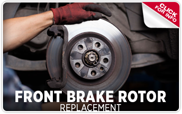Click to view our front brake rotor replacement service serving Redwood City, CA