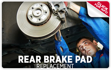 Click to view our rear brake pad replacement service serving Redwood City, CA