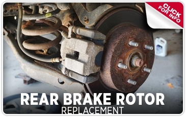Click to view our rear brake rotor replacement service serving Redwood City, CA