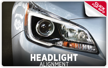 Click to learn about our Subaru Headlight Alignment service in Redwood City, CA