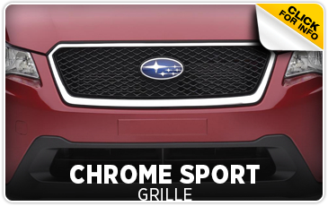 Click to view our Subaru chrome sport grille parts information serving San Francisco, CA