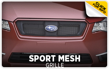 Click to view our Subaru sport mesh grille parts information serving San Francisco, CA