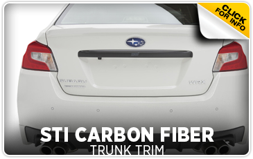 Click to view our Subaru STI carbon fiber trunk trim information serving San Francisco, CA