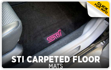 Click to view our Subaru STI carpeted floor mat information serving San Francisco, CA