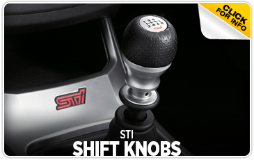 Click to browse our STI shift knobs information at Carlsen Subaru serving San Francisco, CA