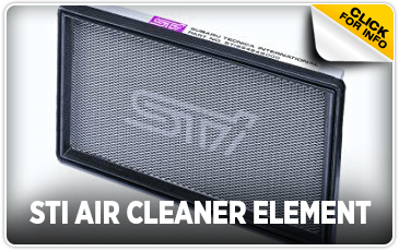 Click to view our Subaru STI air cleaner element information serving San Francisco, CA