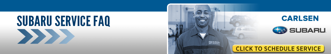 Get answers to frequently asked service department questions from Carlsen Subaru Serving San Francisco, CA