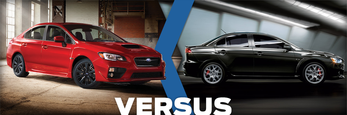 Compare the 2015 Subaru WRX VS Mitsubishi Evolution at Carlsen Subaru