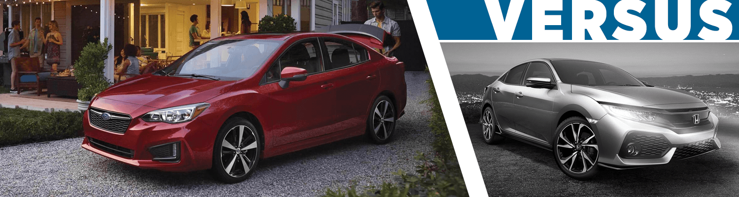 2018 Subaru Impreza Vs 2018 Honda Civic Small Car Model Comparison