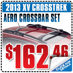 Subaru XV Crosstrek Aero Crossbar Set Parts Coupon Special San Francisco, CA