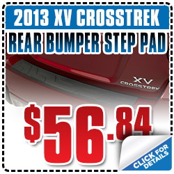Subaru XV Crosstrek Rear Bumper Step Pad Parts Coupon Special San Francisco, CA