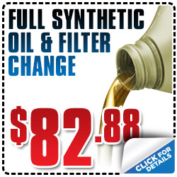 Subaru Full Synthetic Oil Filter Change Service Coupon Special San Francisco, CA