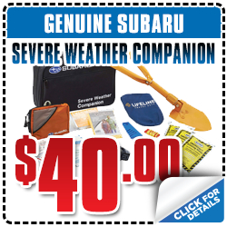 Click to View Our Subaru Severe Weather Companion Parts Special serving San Francisco, CA