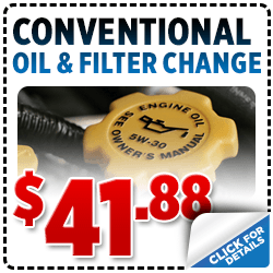 Click for Savings on this Subaru Conventional Oil Change service special.