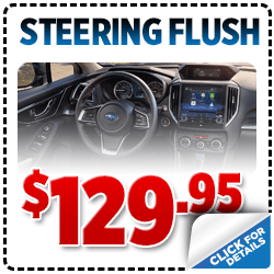 Click to browse our Power Steering System Flush service special at Carlsen Subaru serving San Francisco, CA
