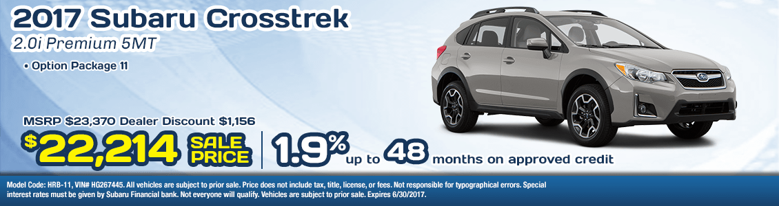 2017 Subaru Crosstrek 2.0i Premium Sales Specials serving San Francisco, CA