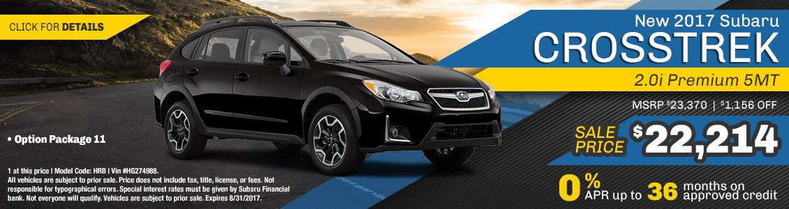 2017 Subaru Crosstrek 2.0i Sales Special serving San Francisco, CA