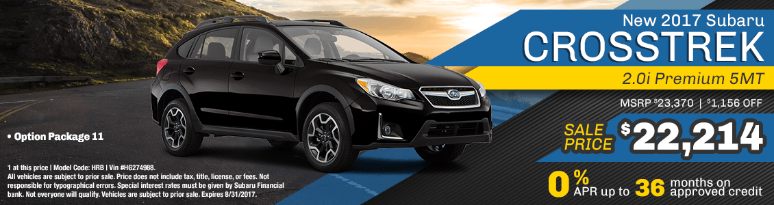 2017 Subaru Crosstrek 2.0i Sales Special serving San Francisco, CA
