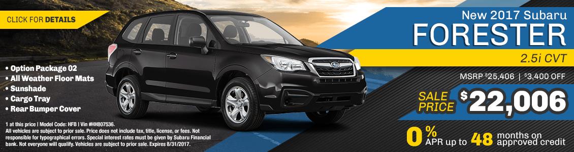 2017 Subaru Forester 2.5i Sales Special serving San Francisco, CA