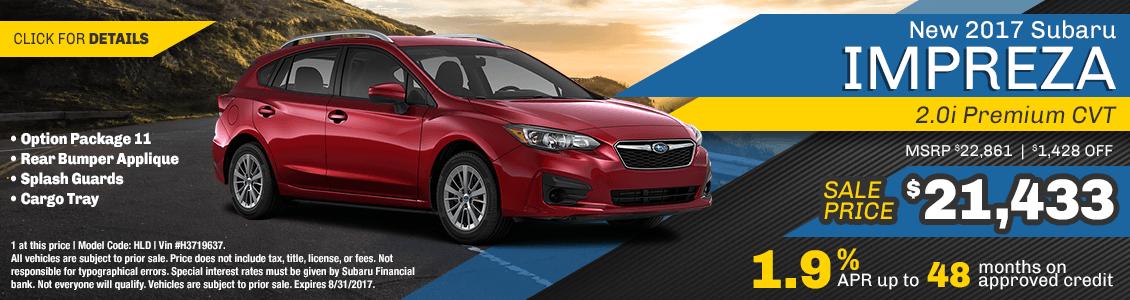 2017 Subaru Impreza Premium Sales Special serving San Francisco, CA