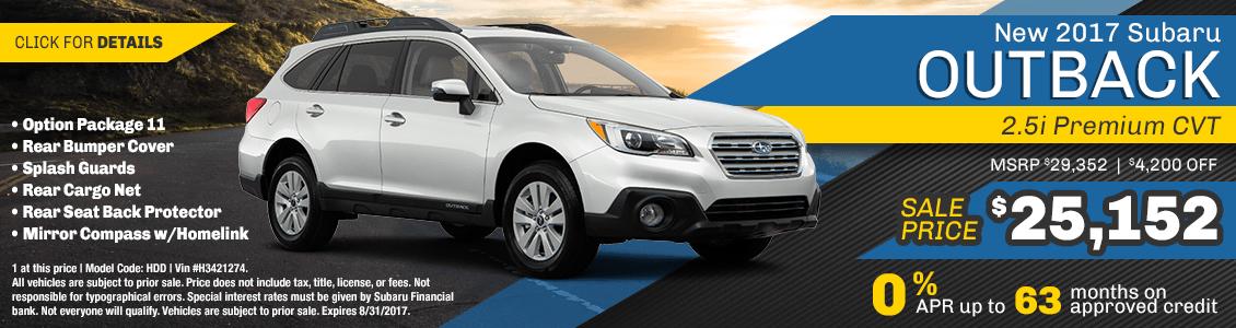2017 Subaru Outback Premium Sales Special serving San Francisco, CA