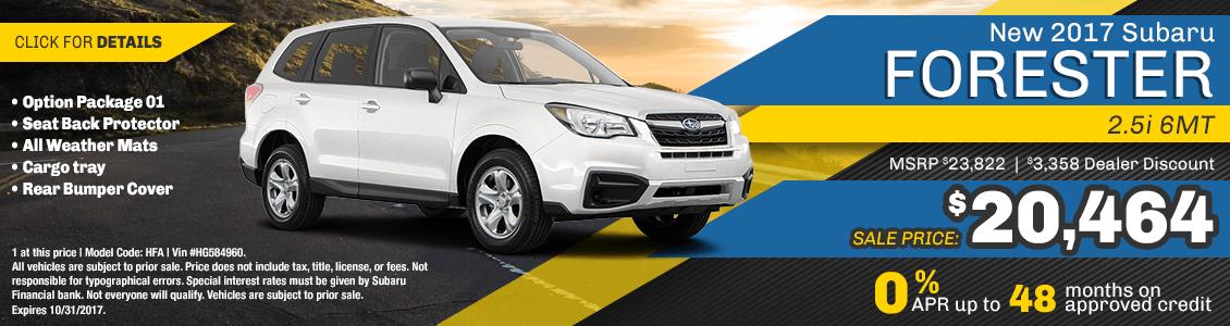 2017 Subaru Forester 2.5i 6MT Sales Special serving San Francisco, CA