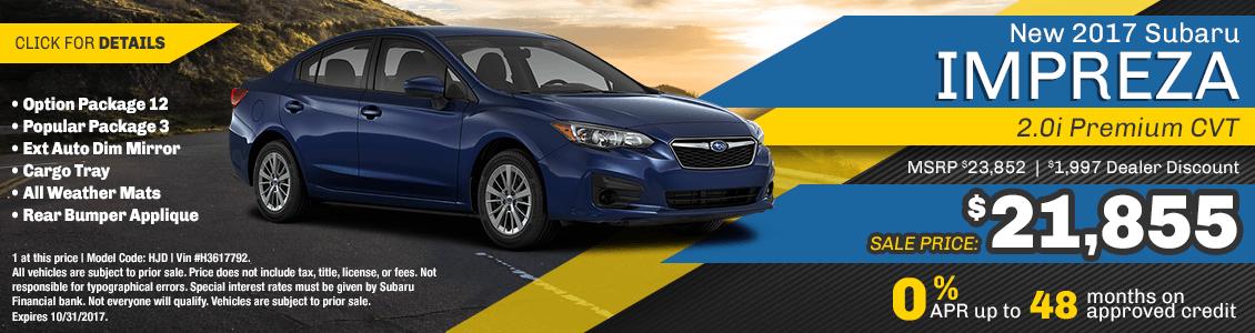 2017 Subaru Impreza 2.0i Premium CVT Sales Special serving San Francisco, CA