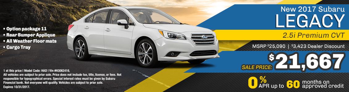 2017 Subaru Legacy 2.5i Premium CVT Sales Special serving San Francisco, CA