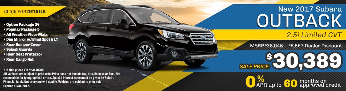 2017 Subaru Outback 2.5i Limited CVT Sales Special serving San Francisco, CA
