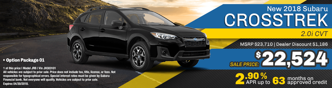 2018 Crosstrek 2.0i CVT low payment lease special serving San Francisco, CA