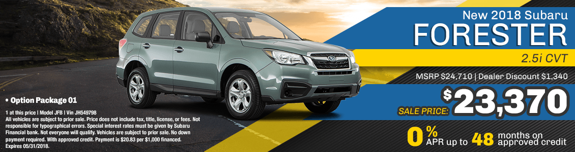 2018 Subaru Forester 2.5I CVT Purchase or Financing Special serving San Francisco, CA