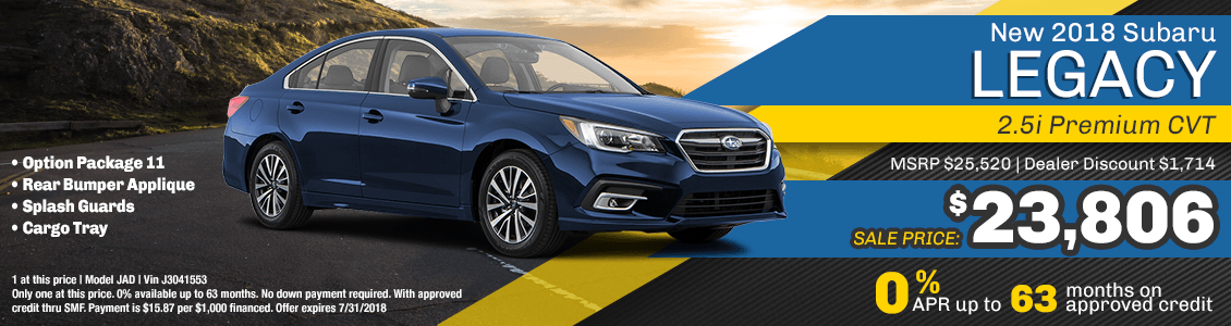 2018 Subaru Legacy 2.5I Premium CVT Purchase or Financing Special serving San Francisco, CA