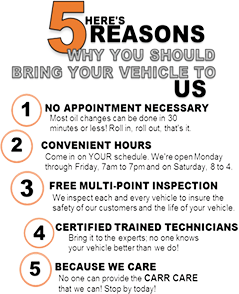 5 Reasons to Schedule Service With Us!