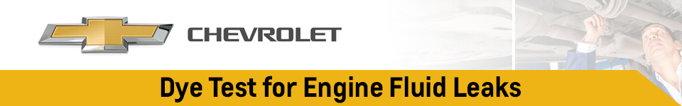 Chevrolet Dye Test & Engine Fluid Leak Test Service Information in Beaverton, OR